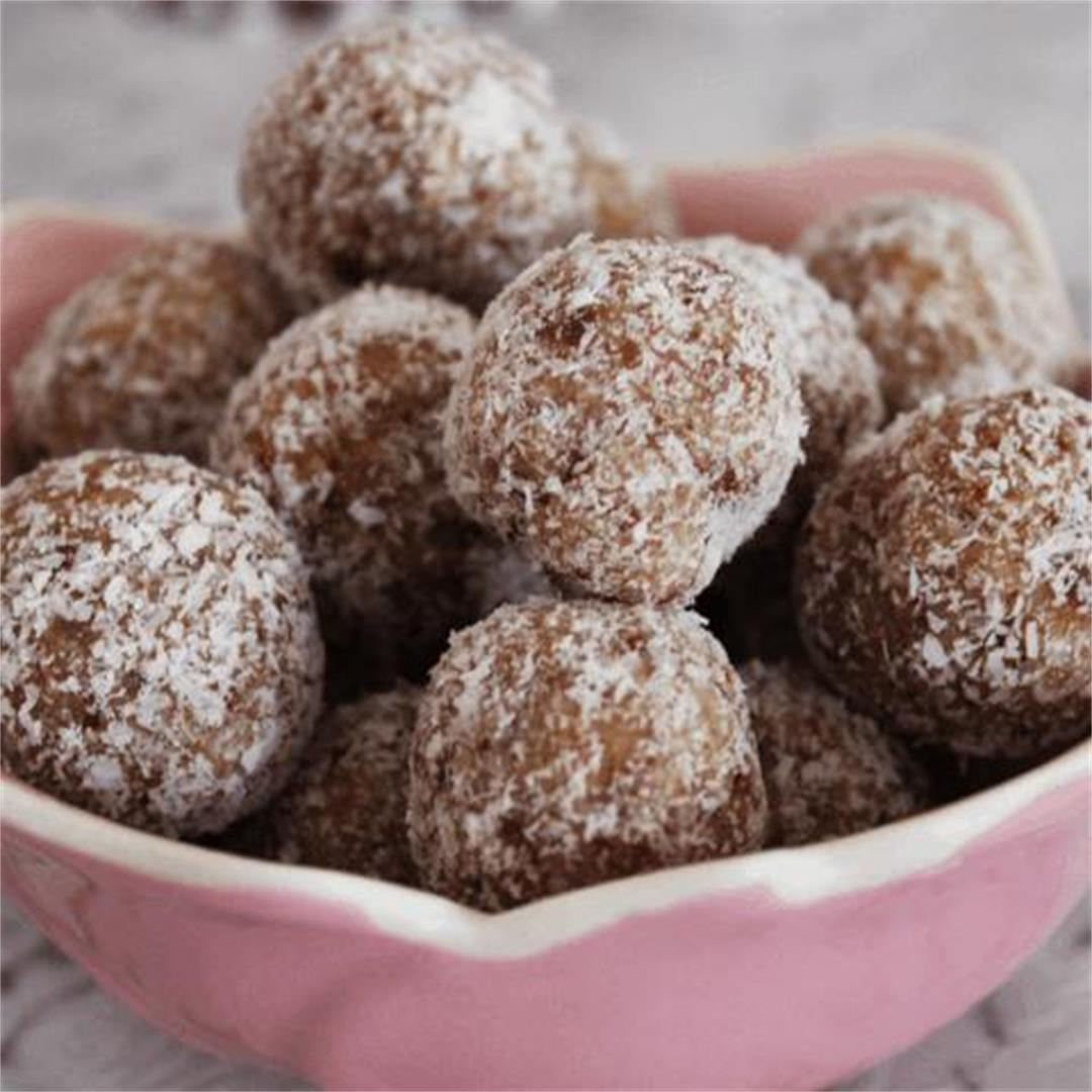 Salted Caramel Bliss Balls - It's Not Complicated Recipes