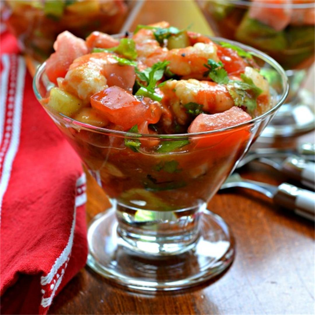 Mexican Shrimp Cocktail (Cóctel de Camarónes)