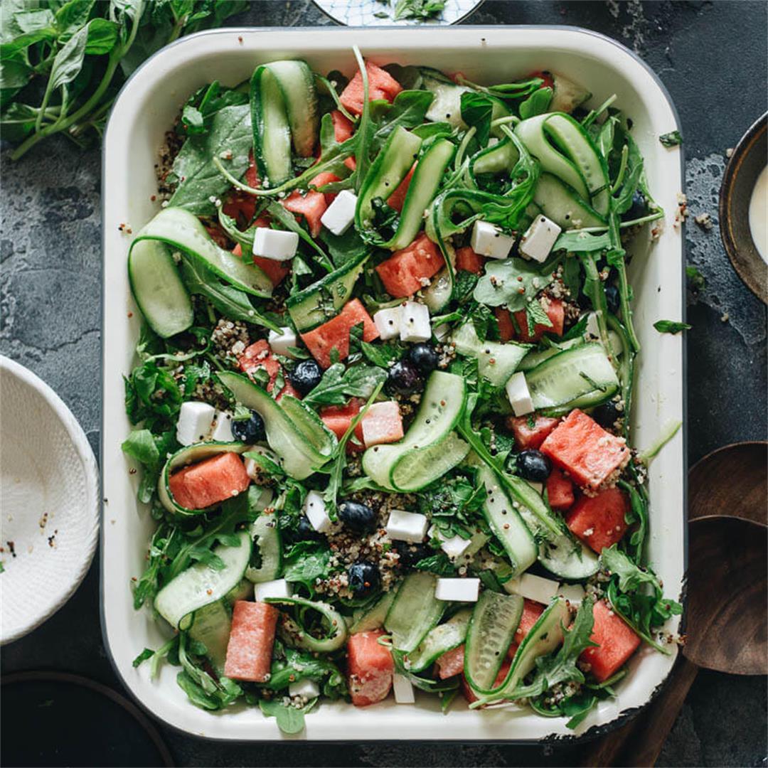 Vegan Watermelon and Arugula Salad