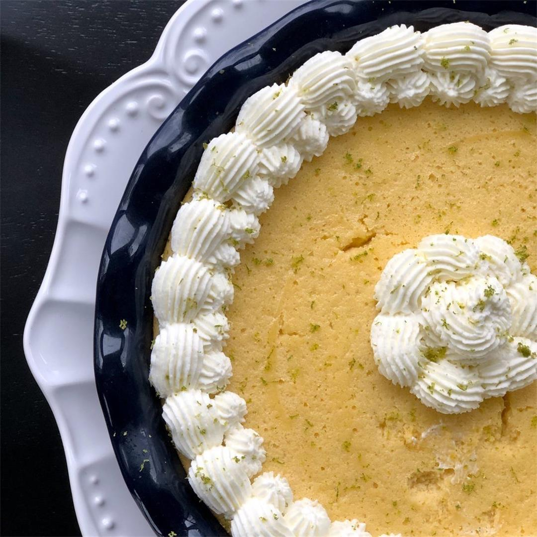 The Fluffiest Key Lime Pie with a Gingersnap Crust