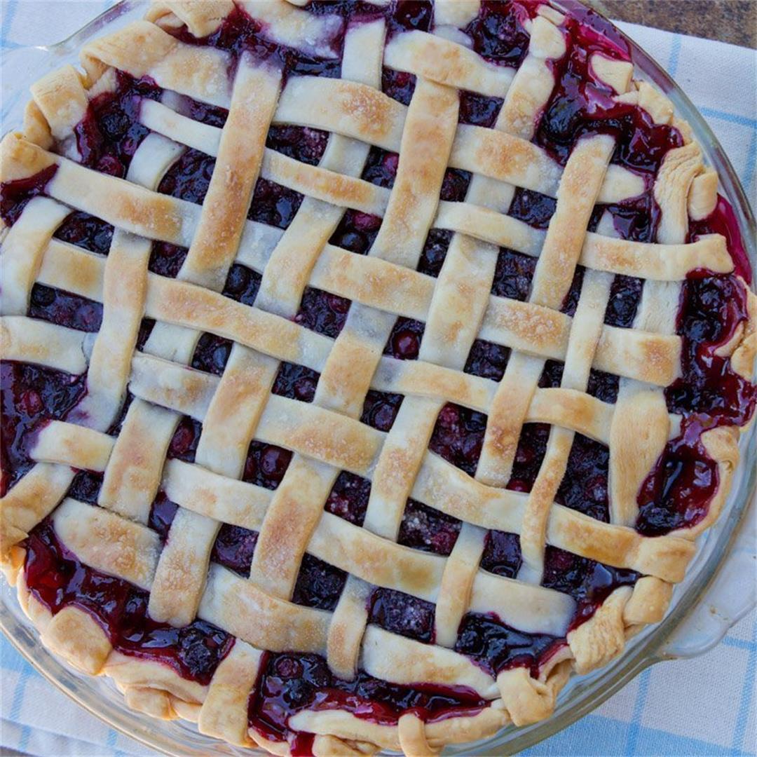 Huckleberry Pie Recipe (using wild huckleberries)