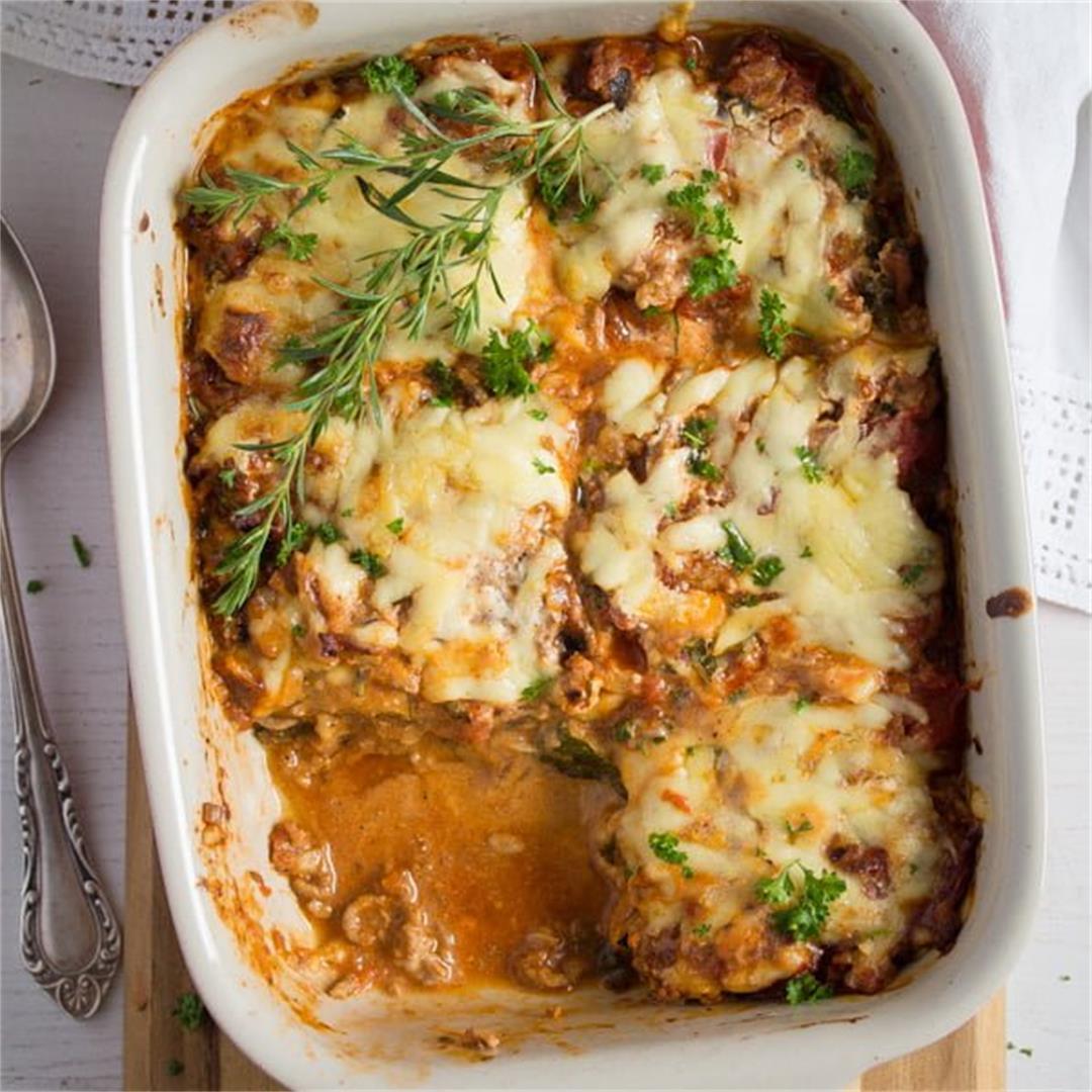 Low-Carb Zucchini Lasagna – No-Noodle