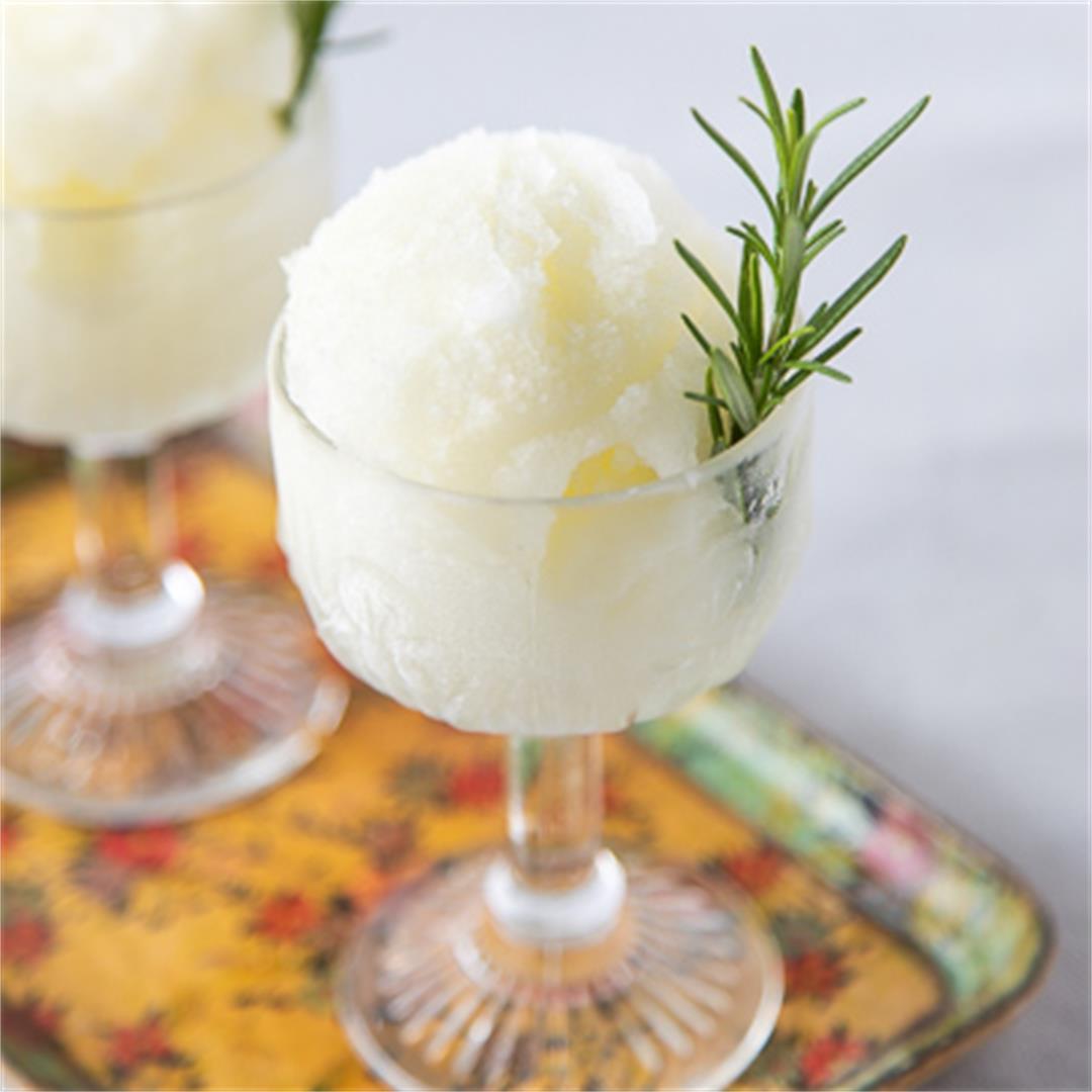 Lemon-Rosemary Sorbet