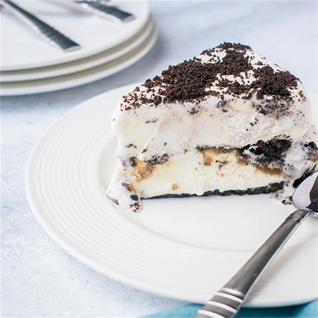 Oreo Ice Cream Cake with Caramel