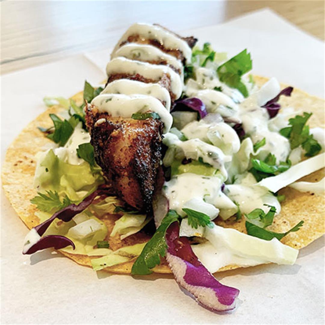 Sustainable rock fish taco