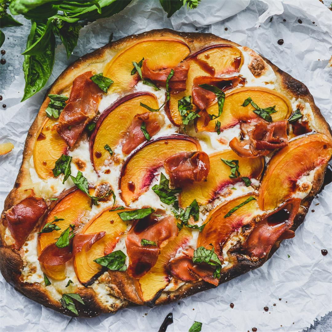 Peach and Prosciutto Pizza — Wanderings in My Kitchen