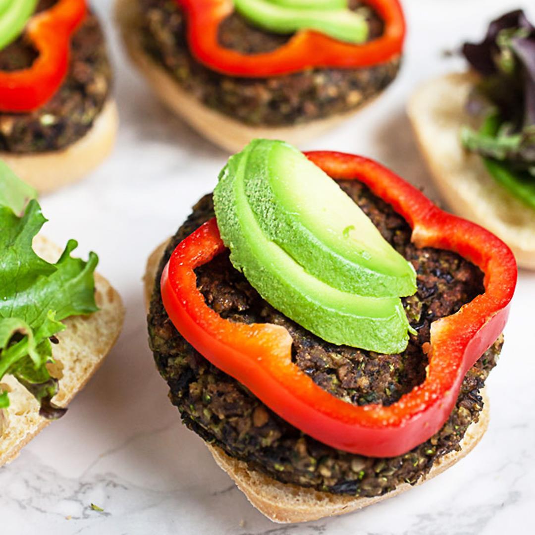 Black Bean and Mushroom Burgers