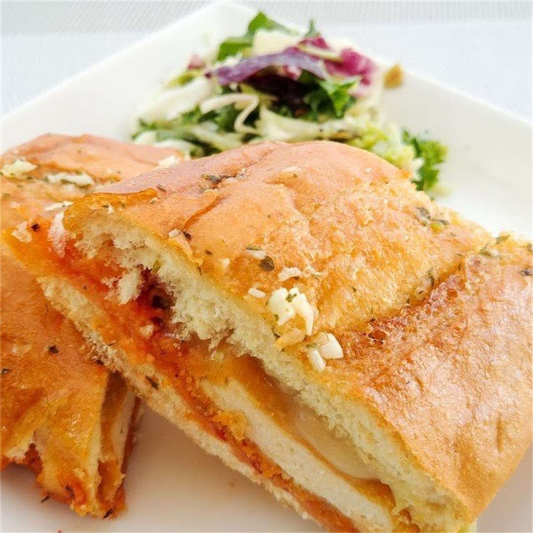 Chicken Marinara Stuffed Garlic Sandwich