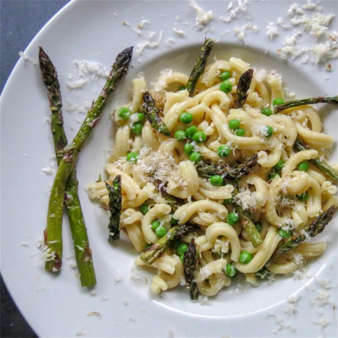 Roasted Asparagus & Pea Casarecce