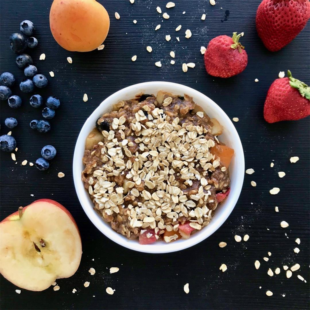 Microwave Vegan Fruit Dessert