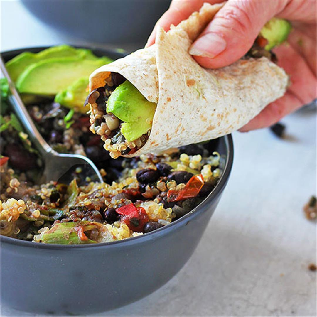 Southwest beans & quinoa bowls