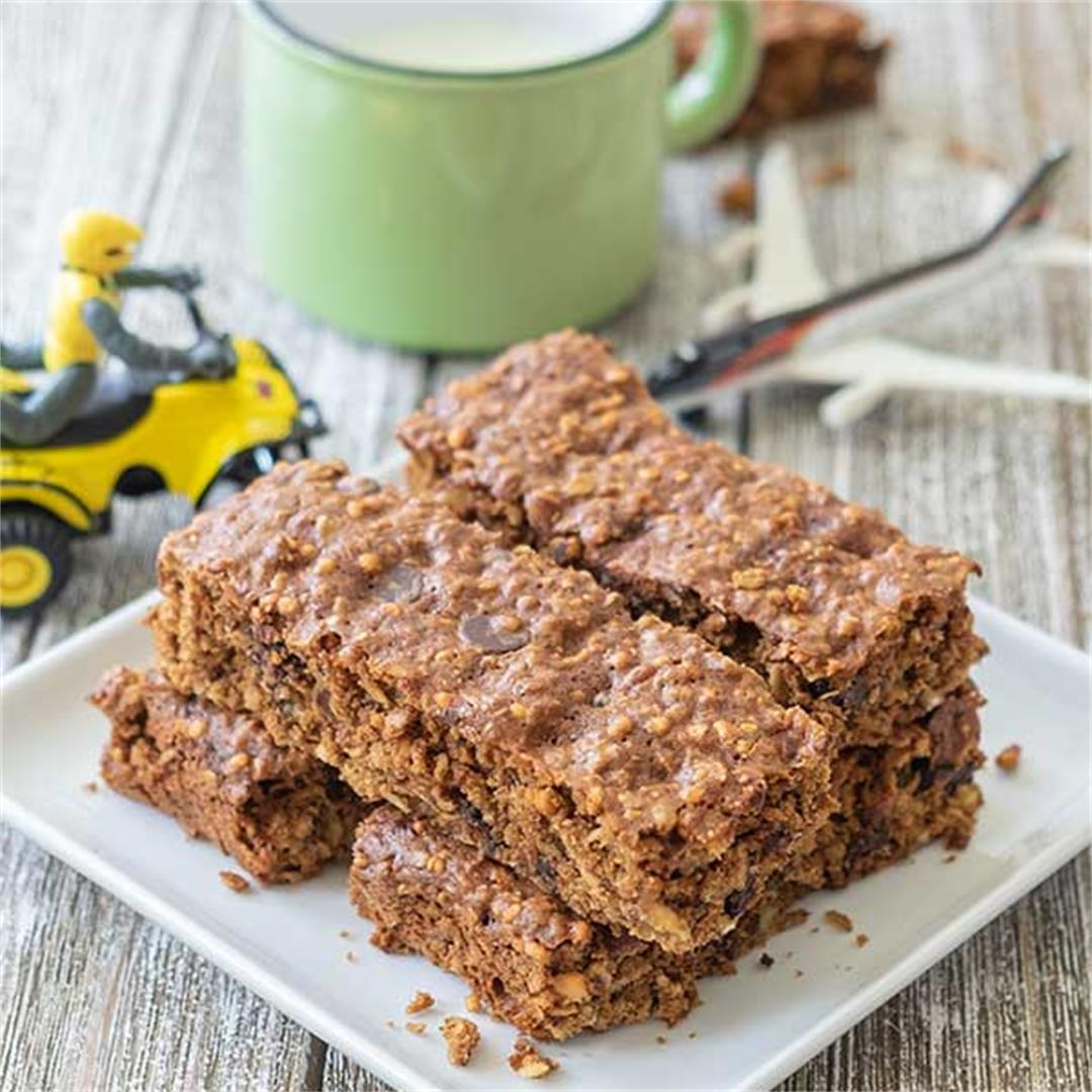 Gluten-Free Chewy Granola Bars For Kids