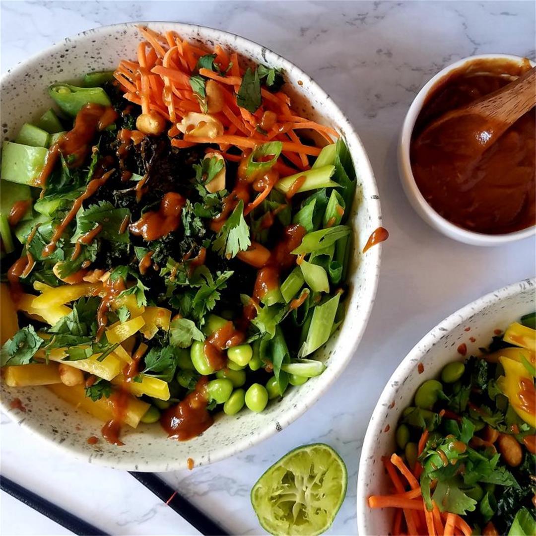 Roasted Thai Salad with Peanut Dressing