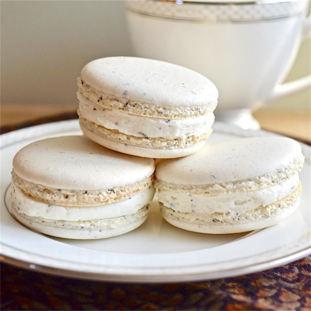 Earl Grey Vanilla Macarons - Jeanie and Lulu's Kitchen