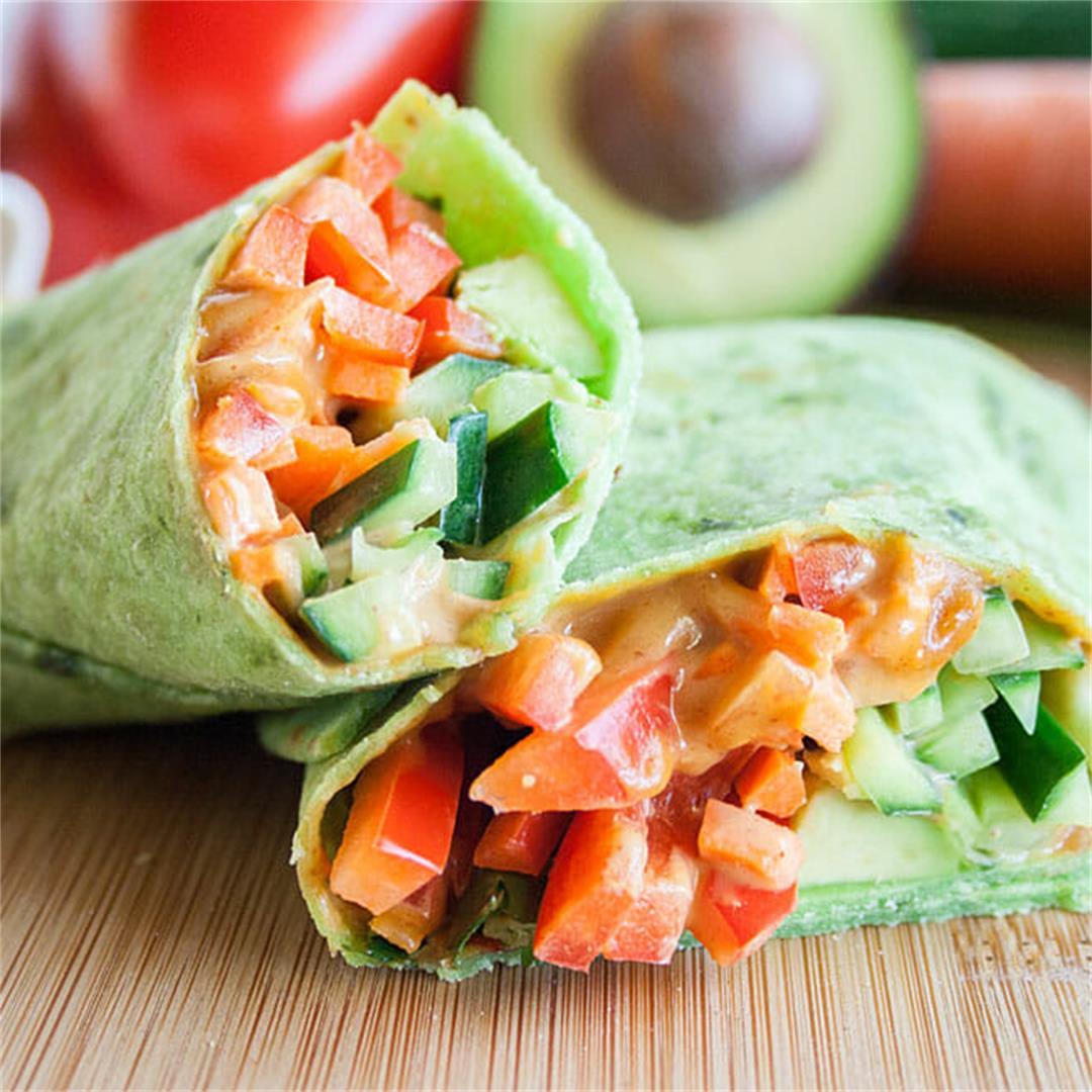 Thai Veggie Wrap -