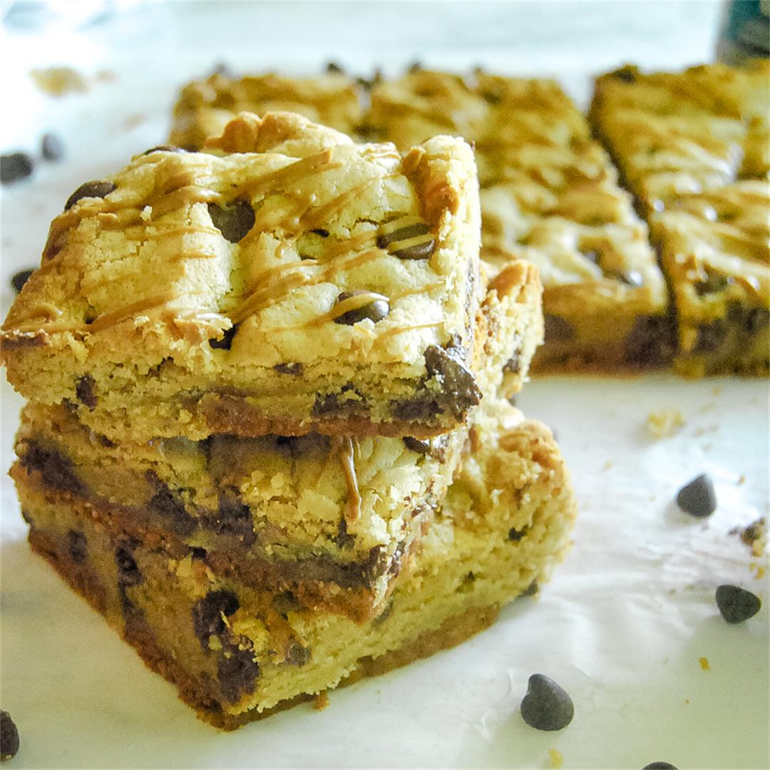 Cookie Butter Chocolate Chip Cookie Bars