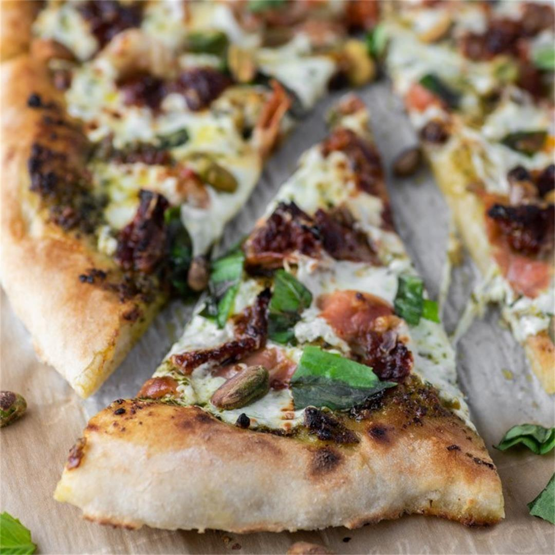 Sun-Dried Tomato Prosciutto Pesto Pizza