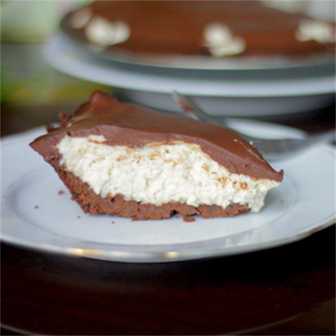 Mascarpone Peanut Butter Pie with Chocolate Ganache