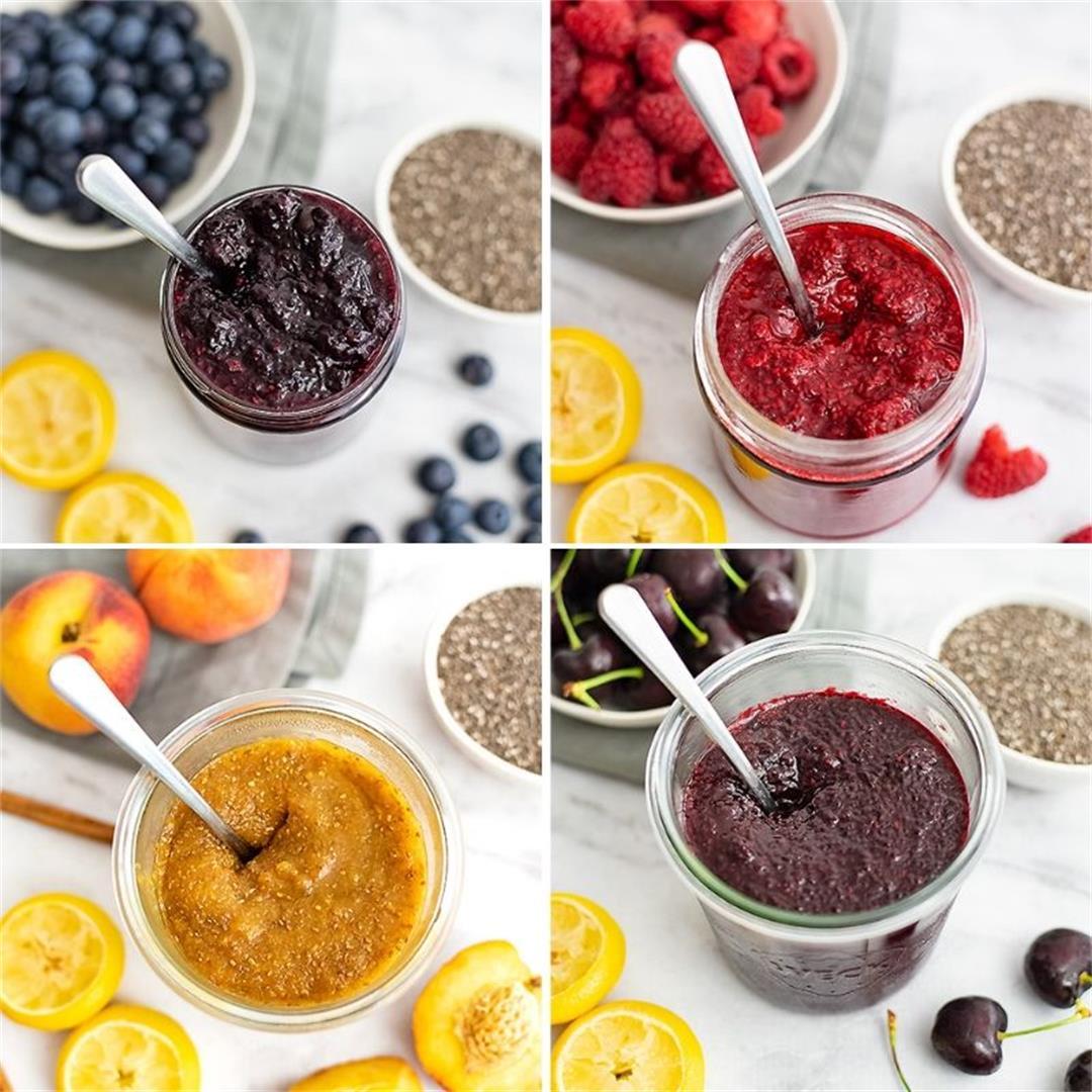 Healthy Chia Jam – 4 Ways