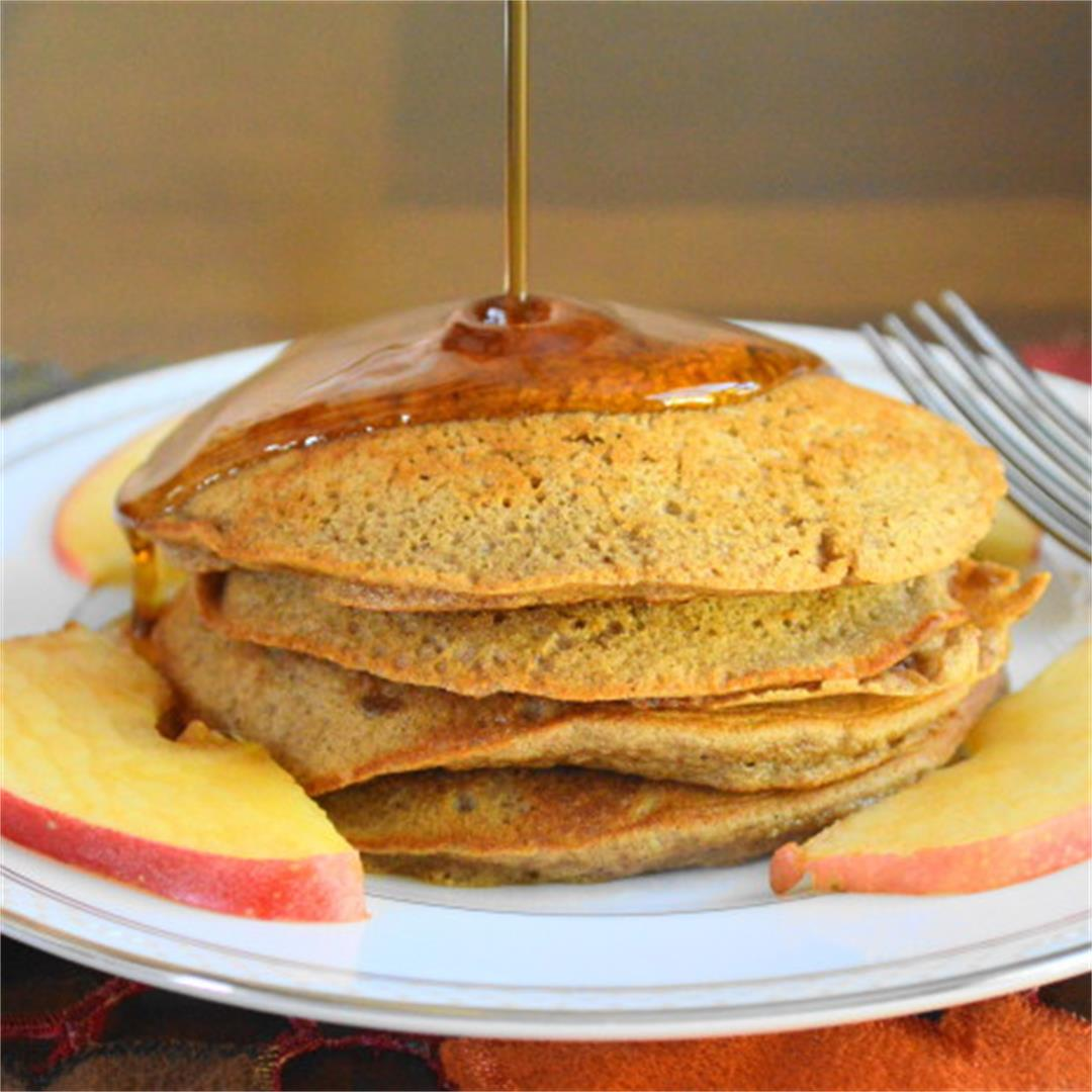 Spiced Apple Sauce Pancakes - Jeanie and Lulu's Kitchen