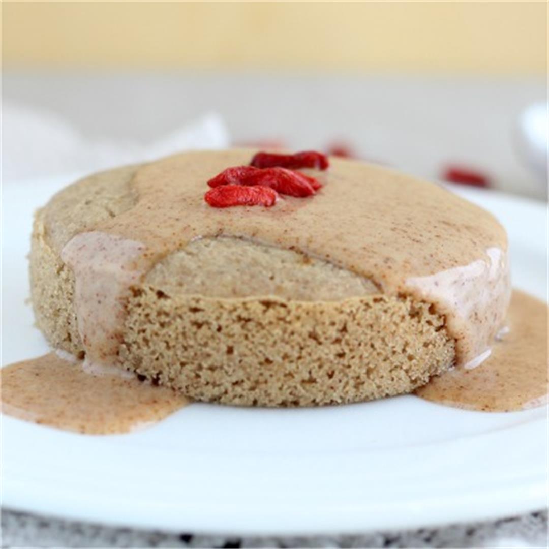 Healthy Vanilla Mug Cake (Gluten-Free)