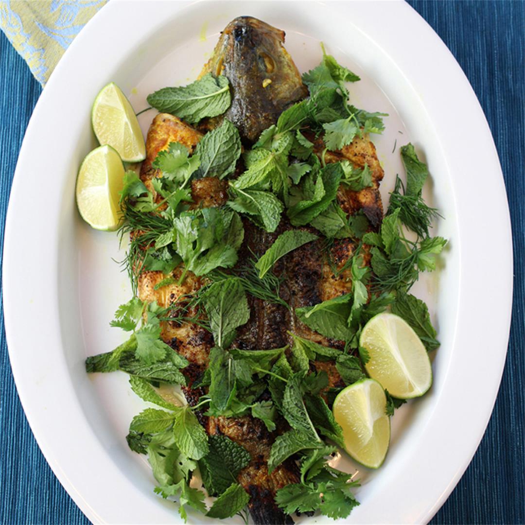 Turmeric Grilled Sea Bass