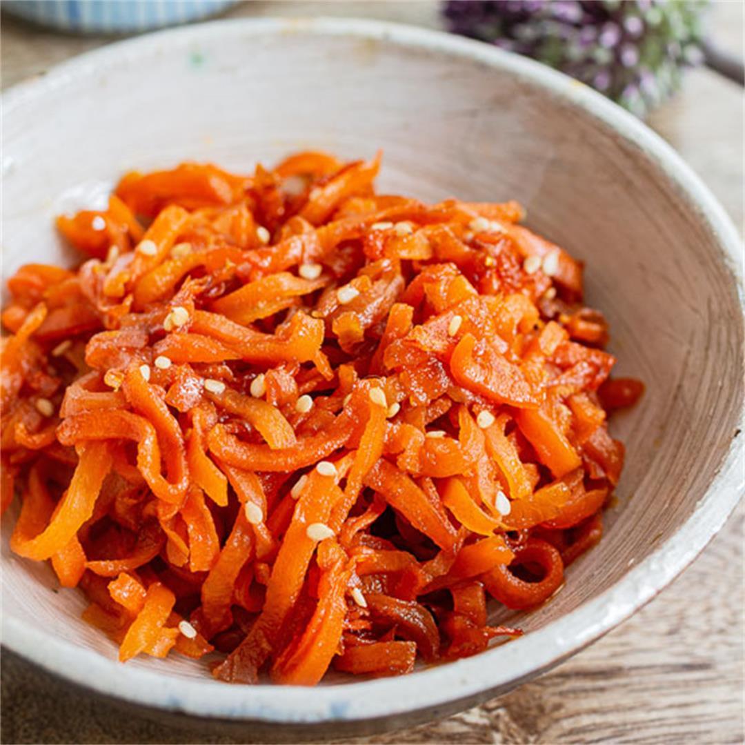 Japanese carrot kinpira