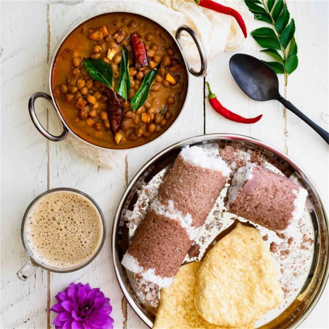 Varutharacha Kadala / Roasted Coconut Chickpeas Curry