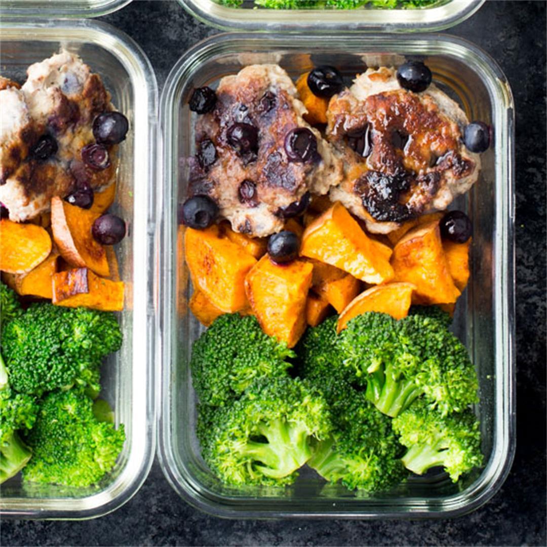 Breakfast Meal Prep: Blueberry Turkey Breakfast Sausage & Roast