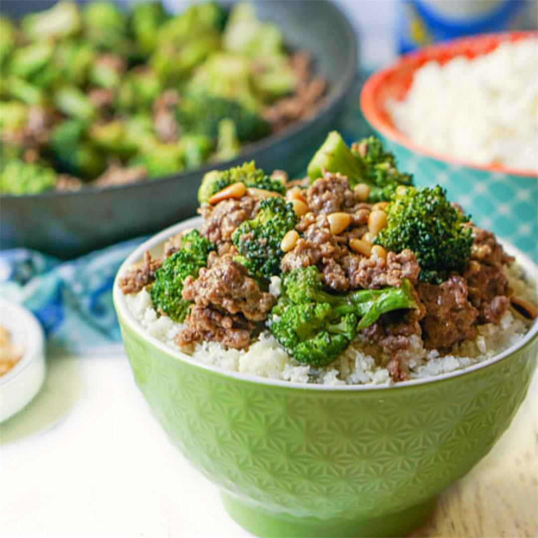 Easy Low Carb Ground Beef and Broccoli Recipe in 15 minutes!