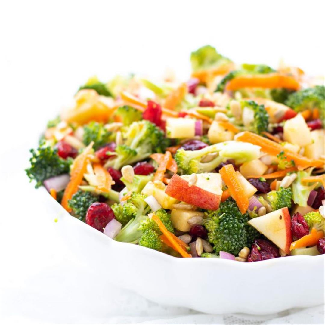 No-Mayo Broccoli Apple Salad