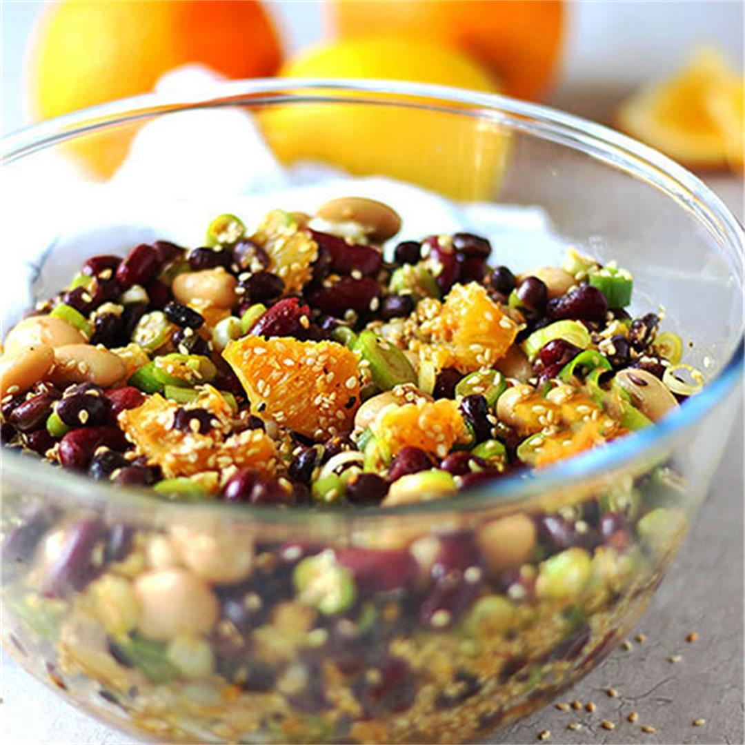 orange sesame 3-bean salad