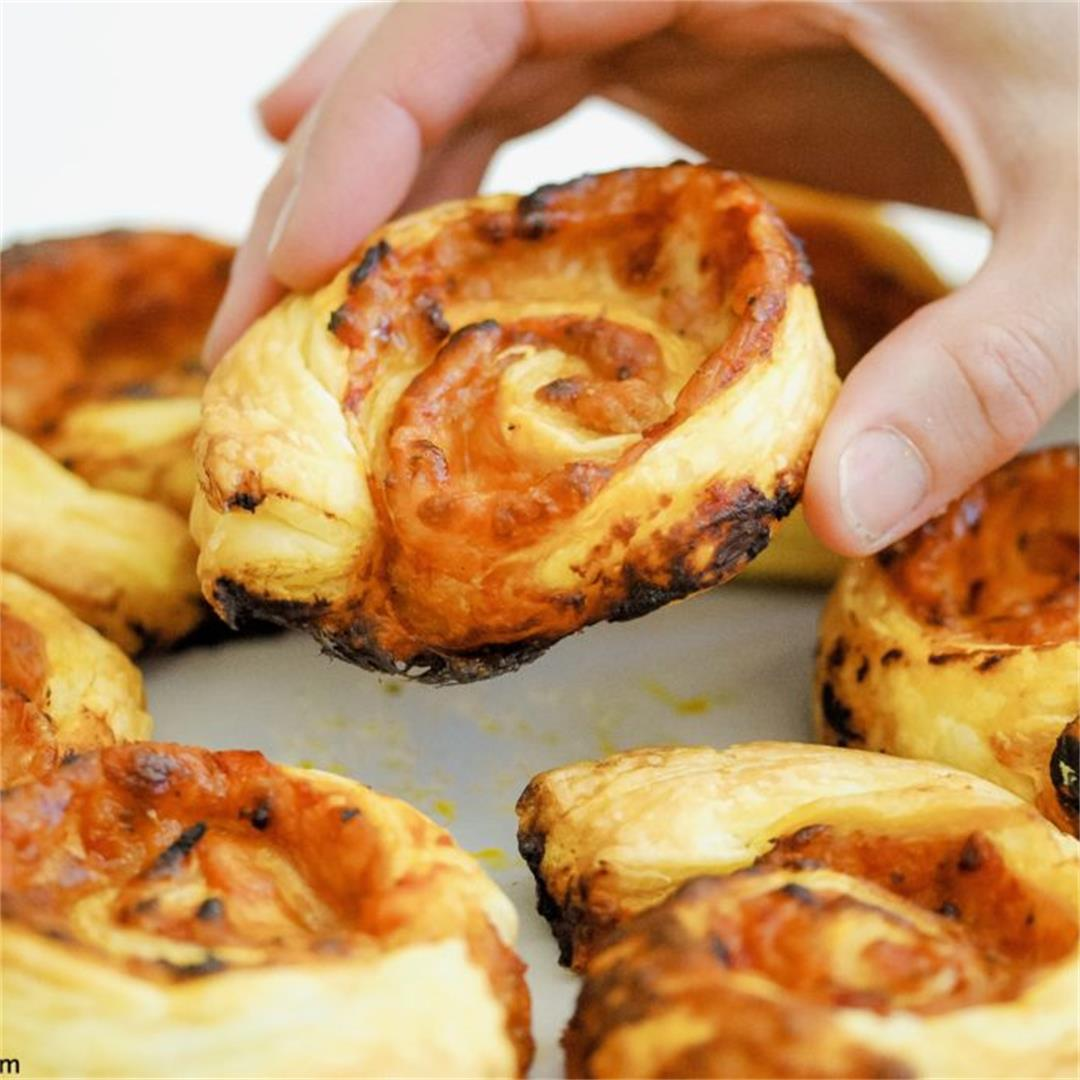 Puff Pastry Pizza Pinwheels