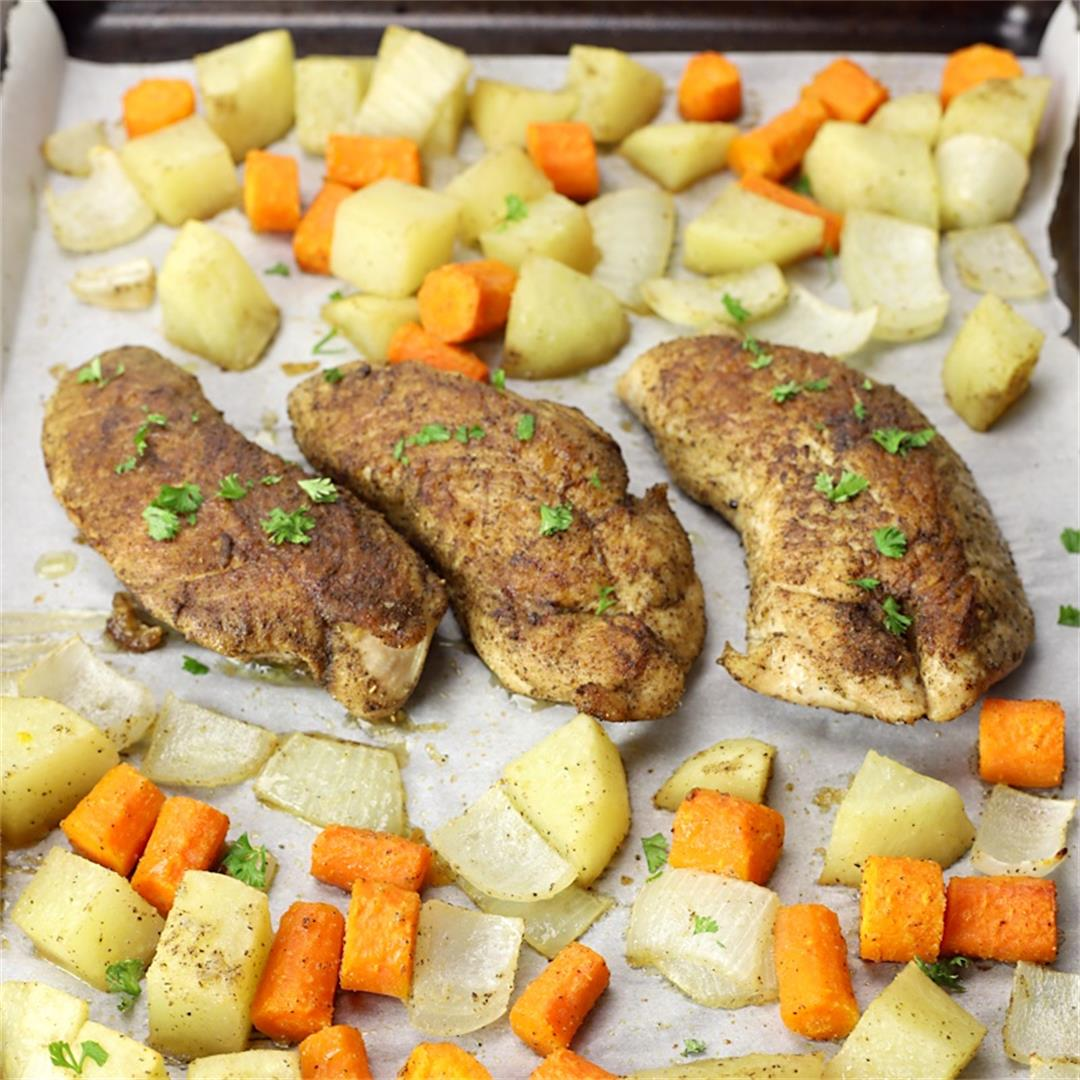 Turkey Tenderloin with Roasted Vegetables and Gravy