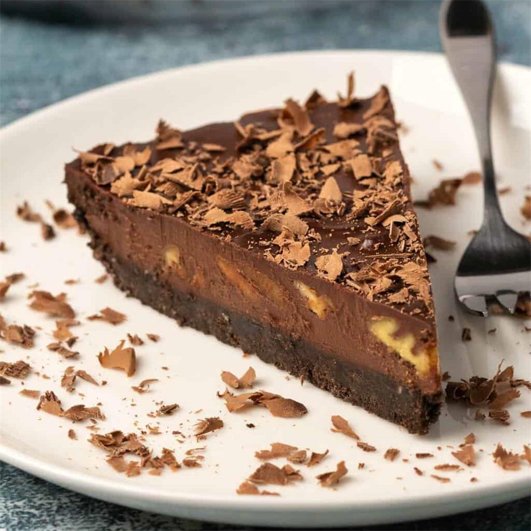 Vegan Chocolate Tart (No-Bake)