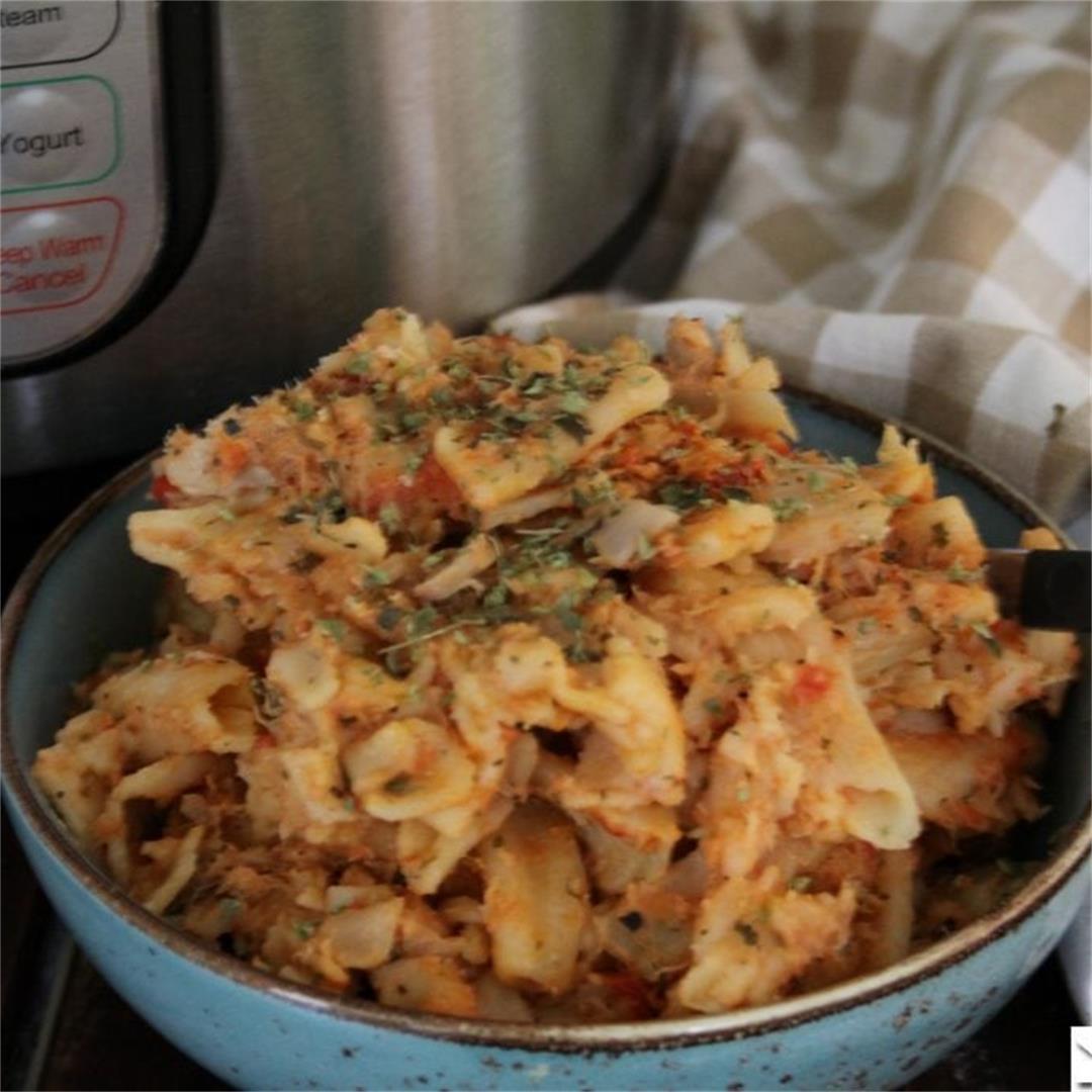 Pressure Cooker Chicken Parmesan Pasta