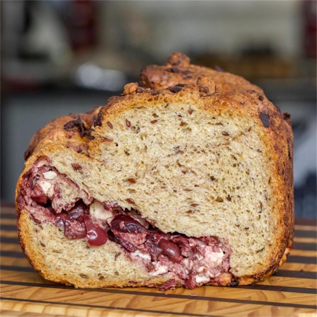Greek Feta & Olive Bread Maker Low Carb Loaf