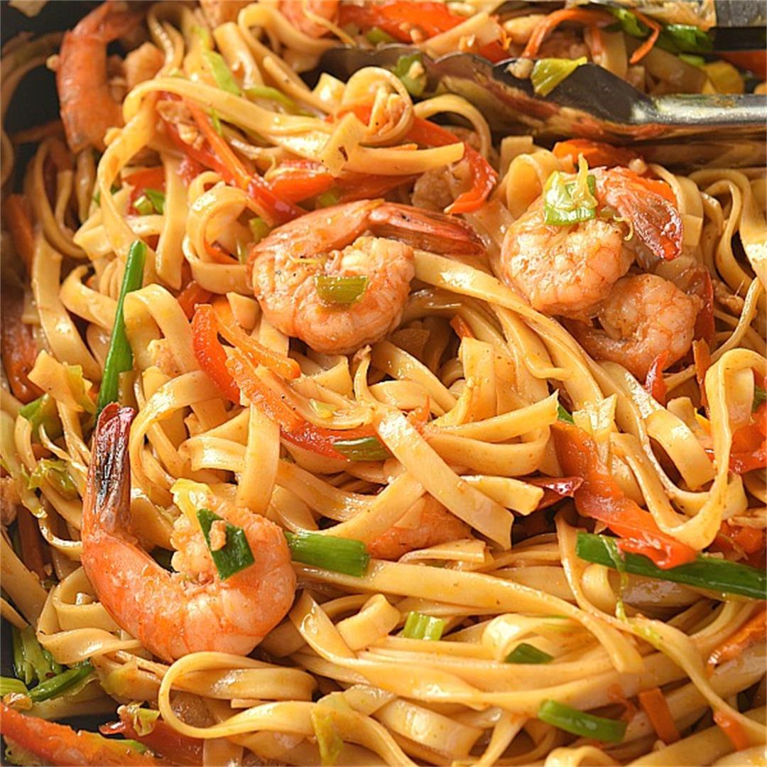 Shrimp Lo Mein Recipe {Restaurant Style}