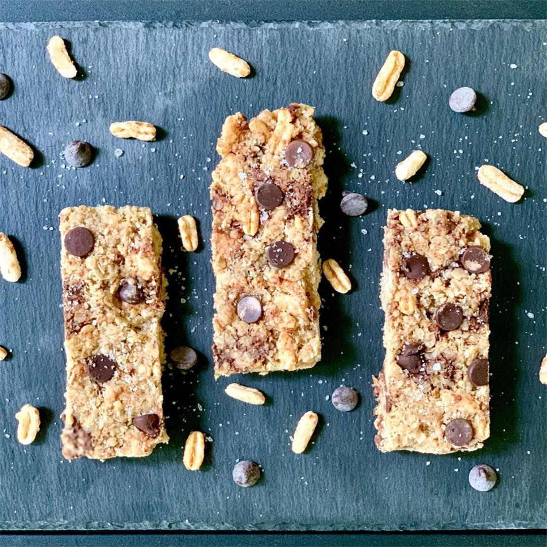 Chocolate Chip Granola Bars (Gluten-Free/Vegan)