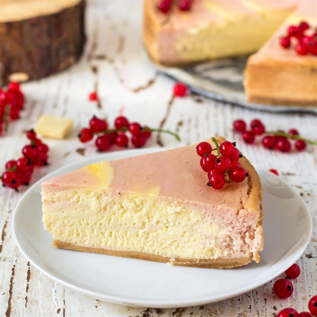 Red Currant White Chocolate Cheesecake