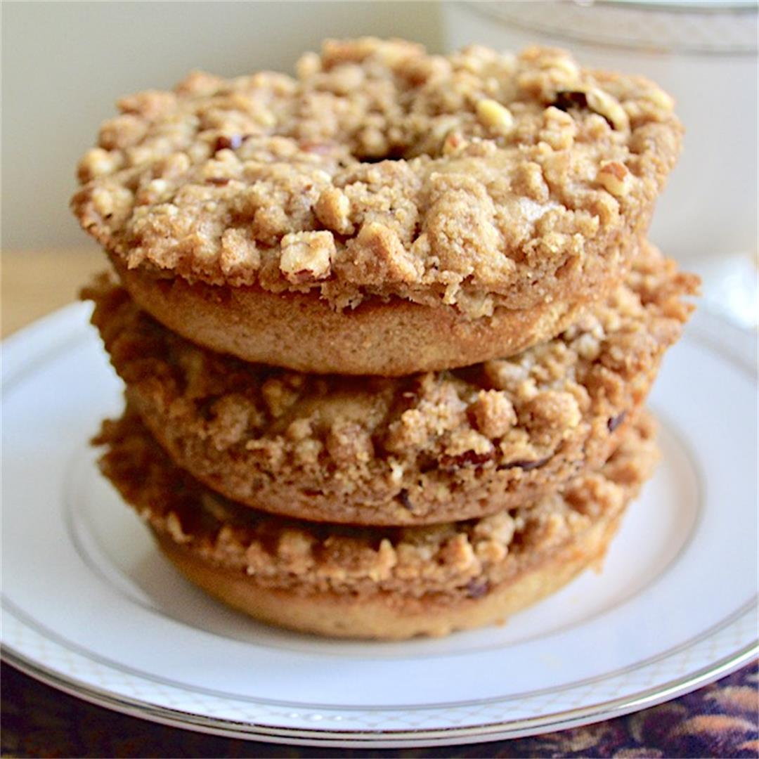 Cinnamon Buttermilk Crumb Donuts - Jeanie and Lulu's Kitchen