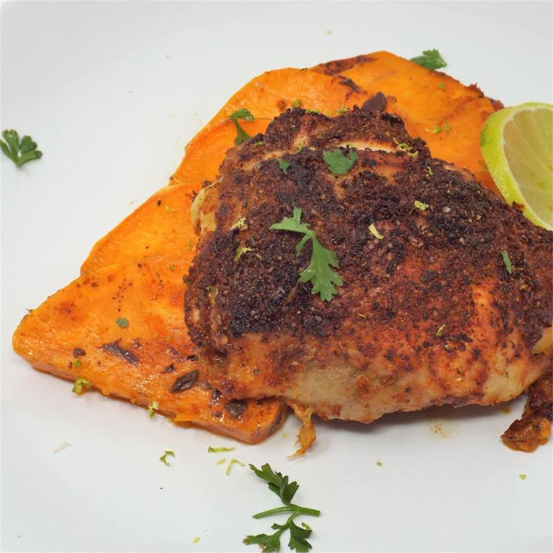Smoky Chili-Lime Chicken with Sweet Potatoes