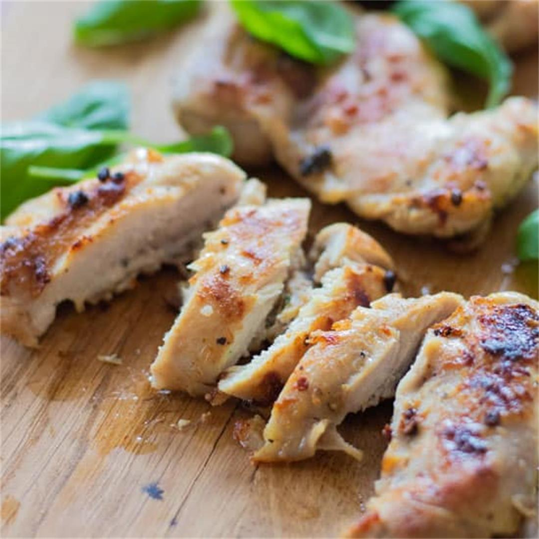 Easy Chicken Marinade with Lemon & Basil [Low carb, Gluten free