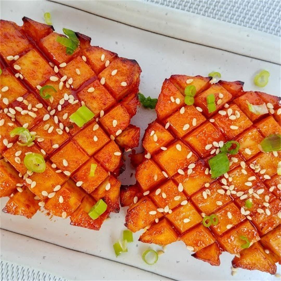 Baked Korean Style Tofu