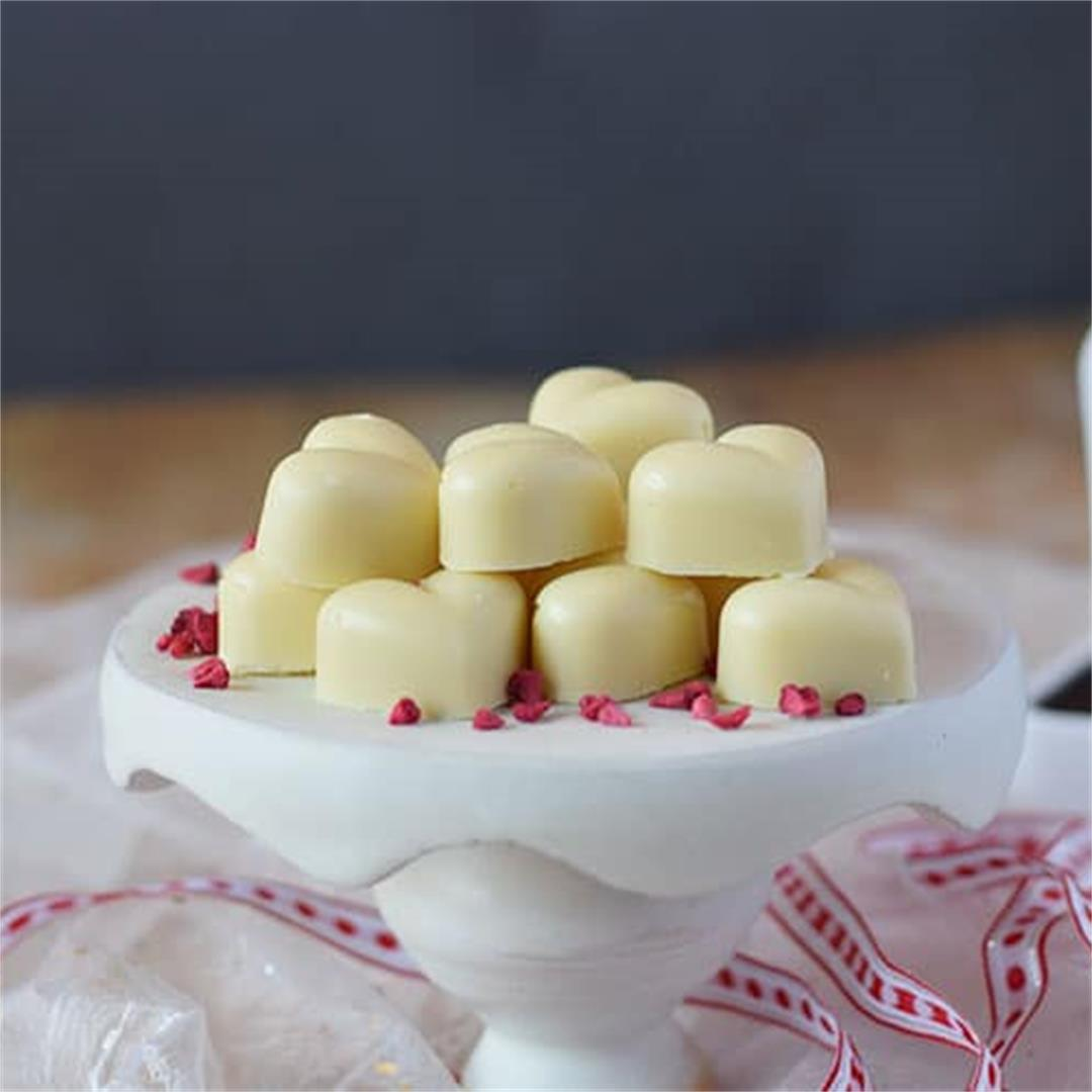 Homemade Raspberry Cream White Chocolates
