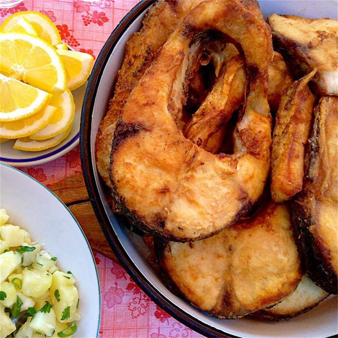 Baked Carp & Potato Salad