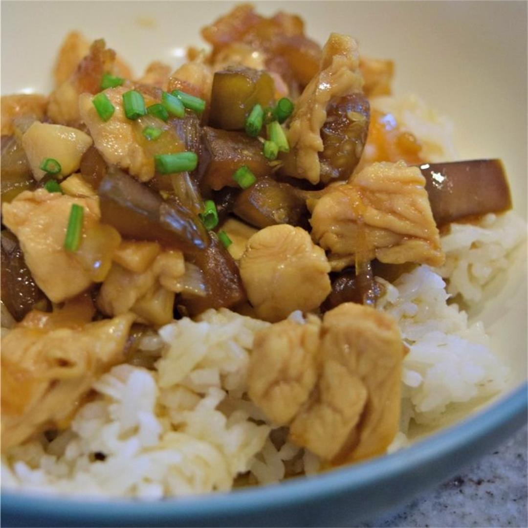 Chicken & Eggplant Teriyaki