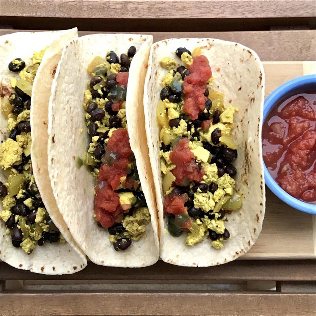 15 Minute Vegan Breakfast Tacos