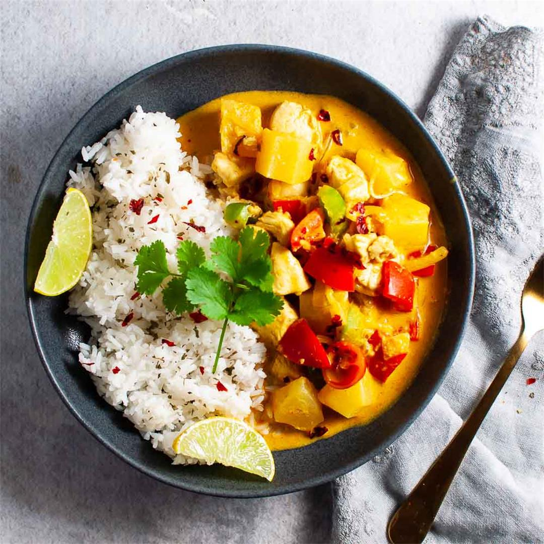 Healthy Pineapple Chicken Thai Curry