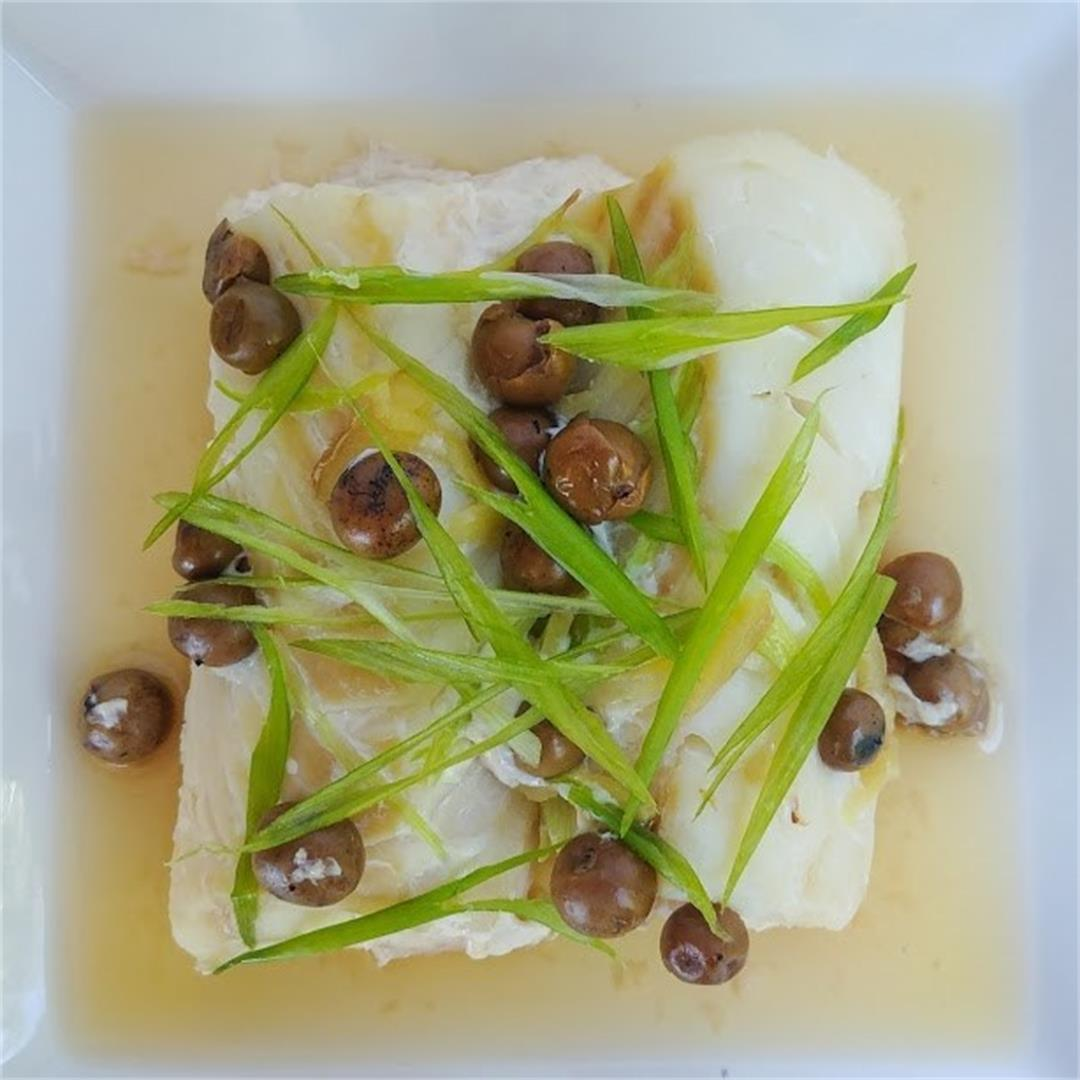 Foil Wrapped Cod with Pickled Cordia Dichotoma